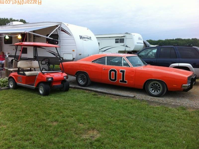 My general lee and golf cart